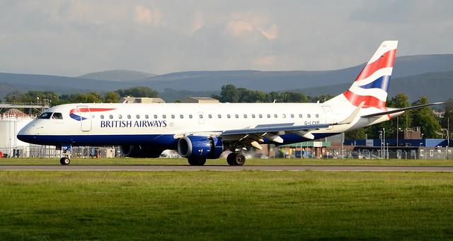 British Airways Embraer ERJ-190-100SR E-190 G-LCYP