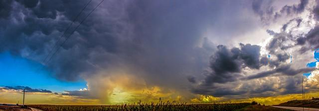 091516 - September Nebraska Thunder... (Pano)
