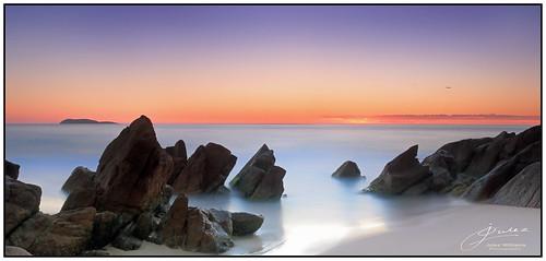 bright beach water sky light rocks sand photoborder ocean longexposure nd8 dawn sunrise coast contrast cokin gnd portstephens newsouthwales australia