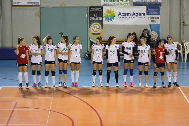 Campionato Fipav U16 Bianca 14 Gennaio 2017 Asd Sanda Volley - Pro Patria 1 - 3