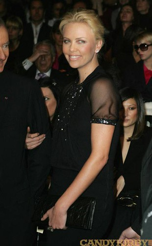 da01828d0db3 Charlize Theron at the Christian Dior Show at Paris Fashion Week