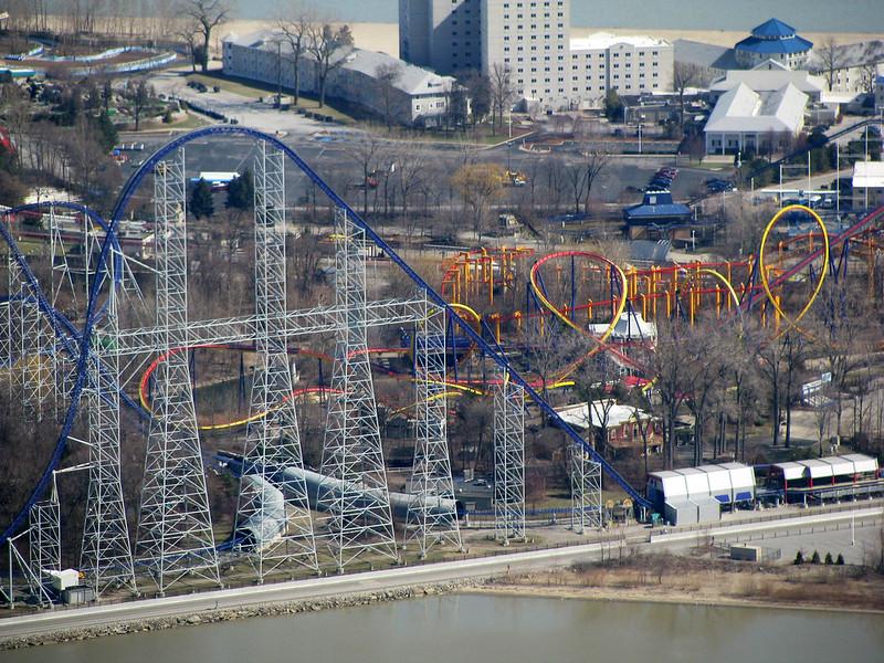Cedar Point Aerial of Millennium Force