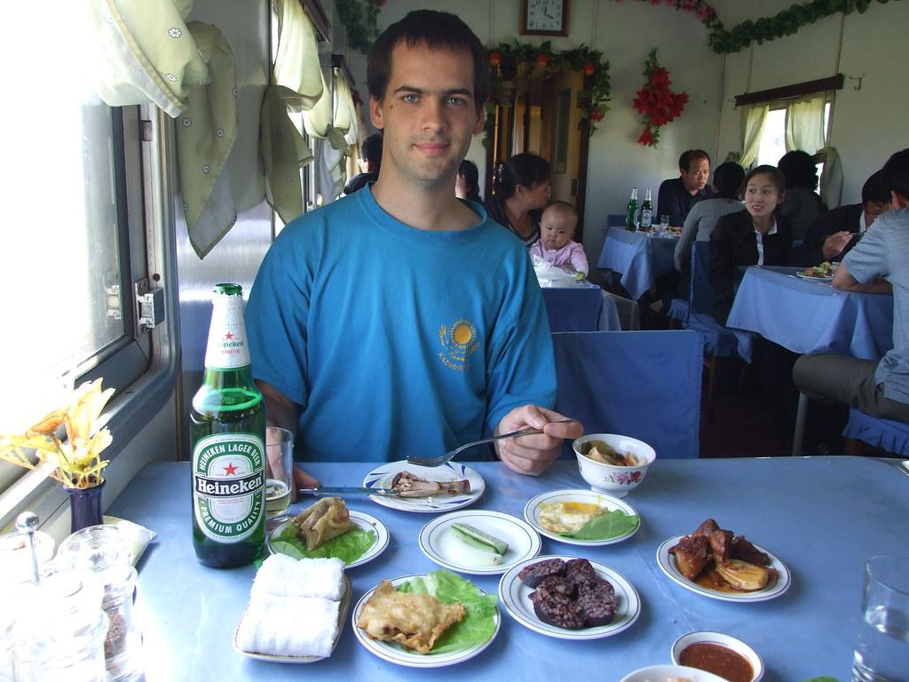 Heineken beer in North Korean train   In the dining car of t…   Flickr