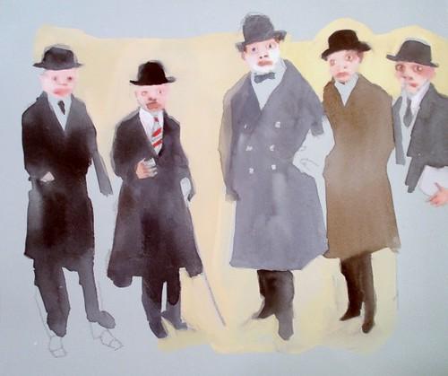 Men in Suits Blue
