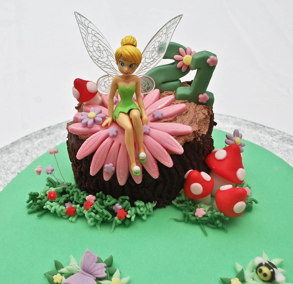 Swell Tinkerbell Fairy Birthday Cake Visit Me And Like My Facebo Flickr Personalised Birthday Cards Sponlily Jamesorg