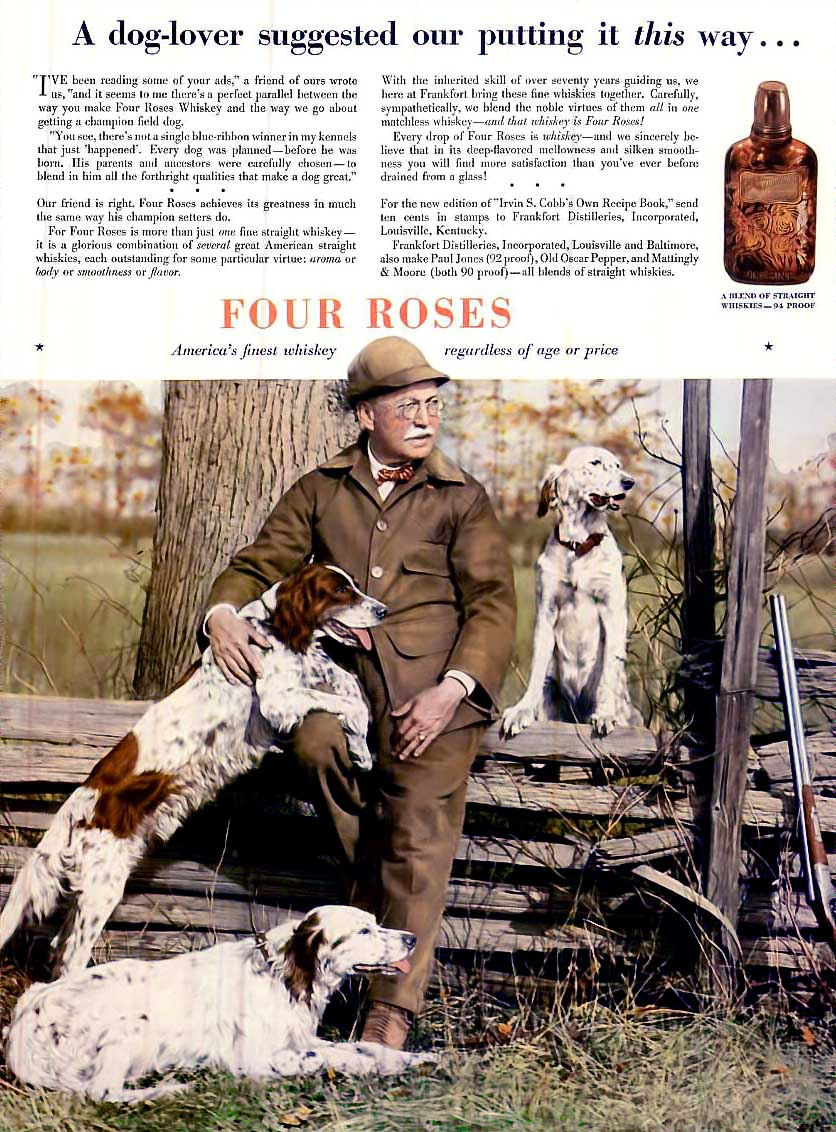 Four Roses Whiskey Advertisement from 1936