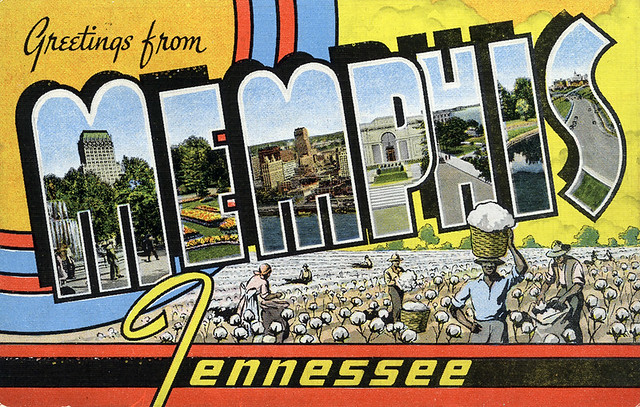 Greetings from Memphis, Tennessee - Large Letter Postcard