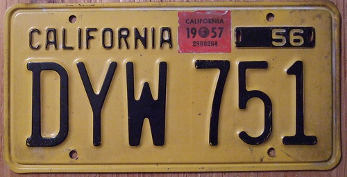 CALIFORNIA 1957 LICENSE PLATE | by woody1778a