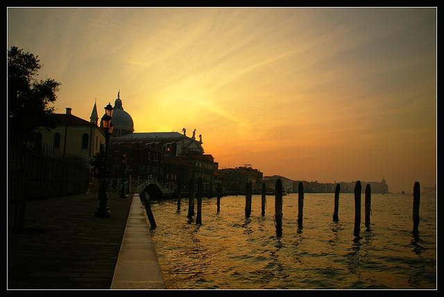 Sunset over Giudecca Island