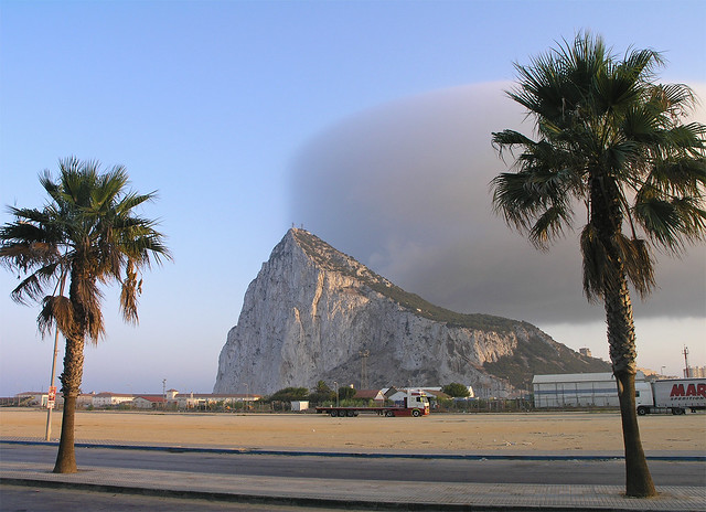 Gibraltar - the rock with a cloud