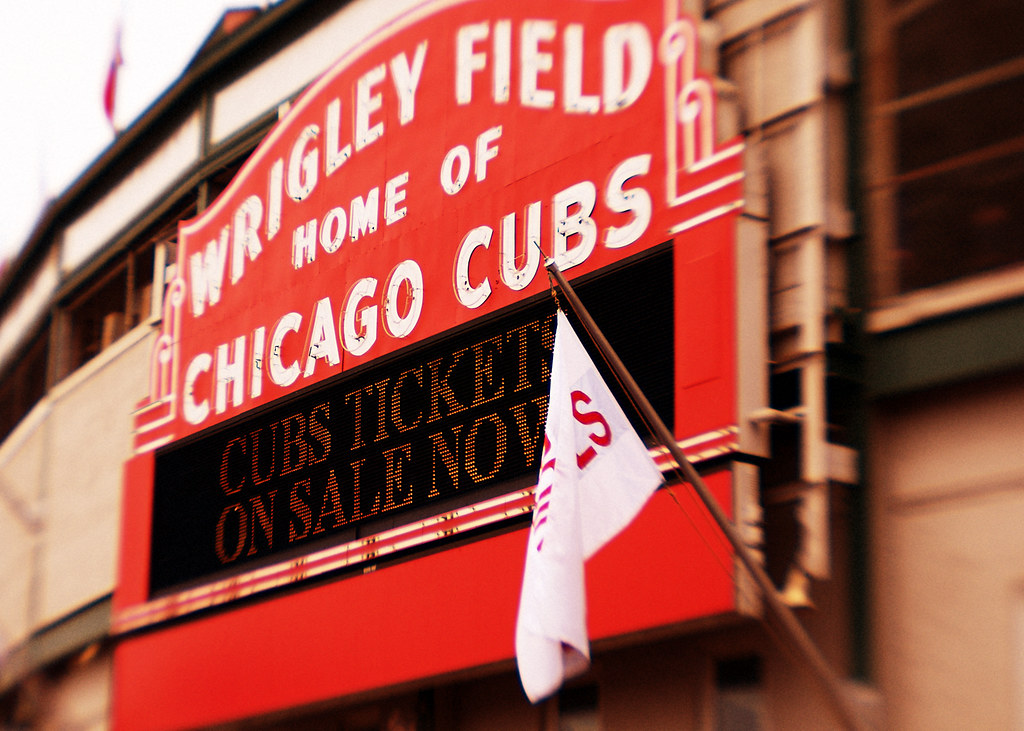 Wrigley Field Home of Chicago Cubs by Express Monorail