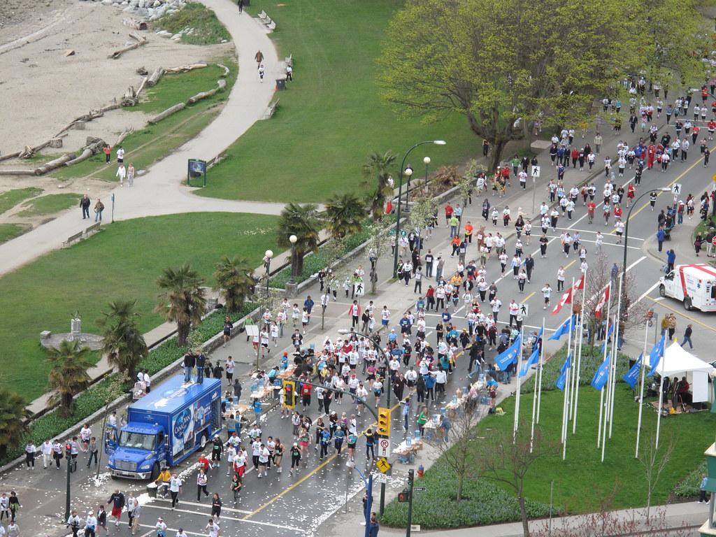 Vancouver Sun Run   Avid runners in the annual Sun Run ...