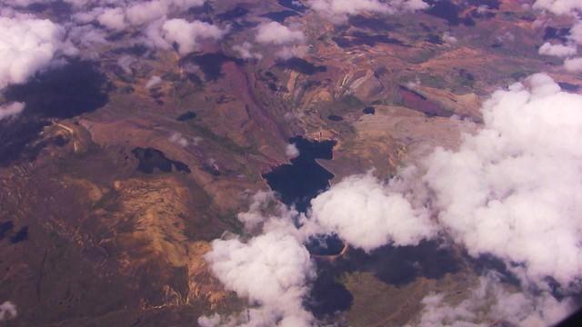 Flug über die Anden nach Cusco