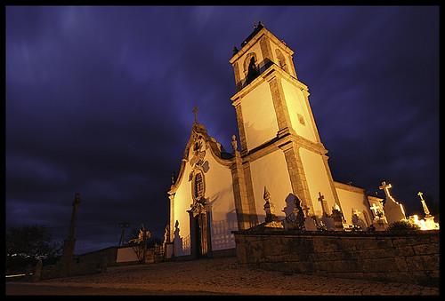sky portugal church night guarda longexposition ilustrarportugal peradomoço