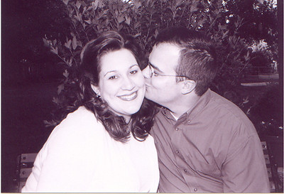 John Kissing Carrie for Engagement Picture Set