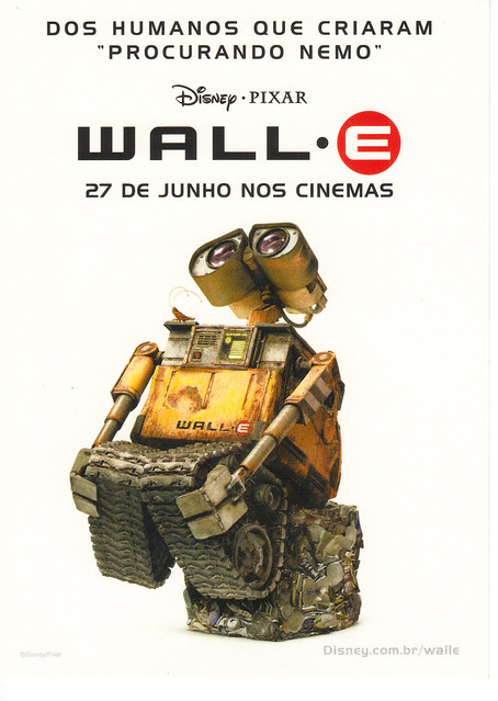 WALL-E Movie Ad Postcard
