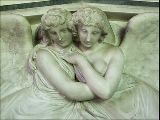 two angels on the memorial to Grace Bagge (Richard Westmacott, 1820s)