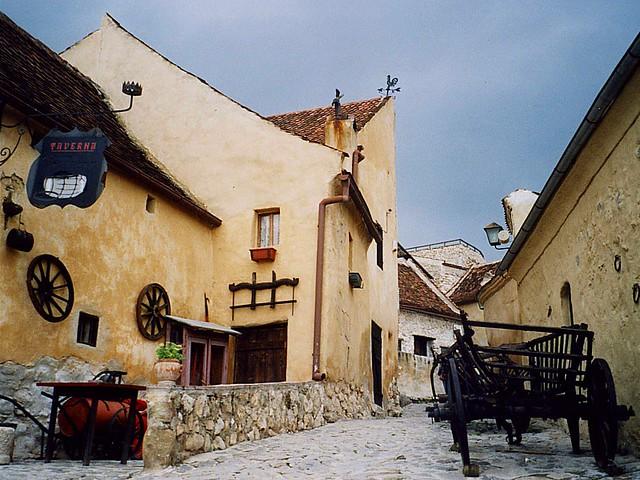 Inside Râşnov fortress