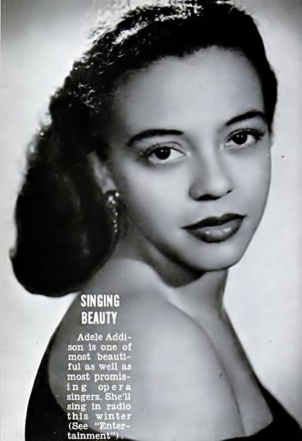Opera Singing Beauty Adele Addison - Jet Magazine, Decembe…   Flickr