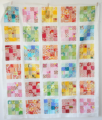4 squared quilt top | by cluckclucksew