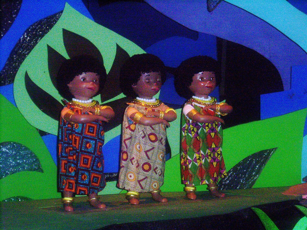 African dancers in the Africa scene of It's A Small World | Flickr