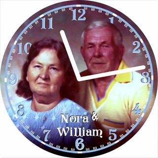 Nora & William Love Clock | by customclockface