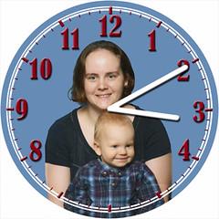 Mother & Boy Child Clock   by customclockface