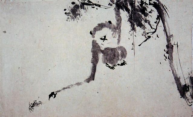 絵金「猿」(明治初期)