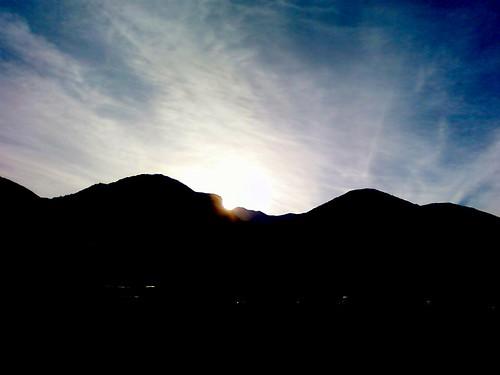cameraphone blue sunset sky mountains sunrise utah ut provo