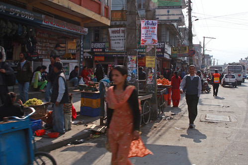 Pedestrians, storefronts and vendors | by World Bank Photo Collection