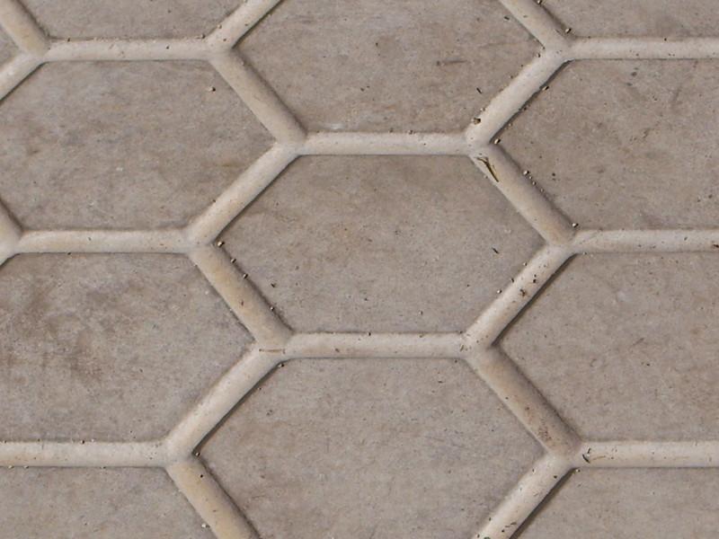 Calçamento hexagonal