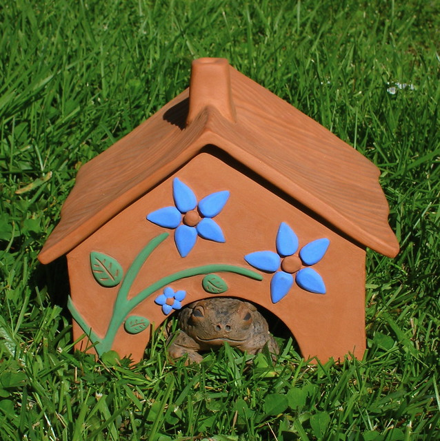 ... Country Garden Toad House | By Clay Dancer Pottery