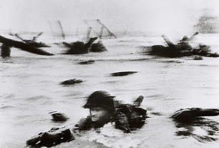 D-Day: June 6, 1944: Allied Invasion of Normandy [photo by Robert Capa]   by Templar1307