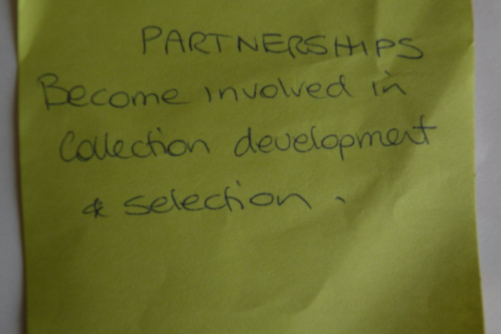 become involved in collection development and selection