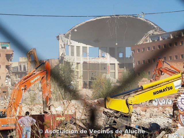 26 octubre 2006: La cúpula a medio demoler