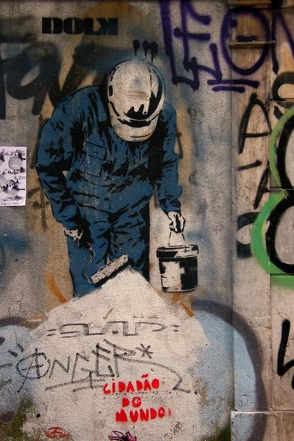 Lisbon. Painting Bairro Alto