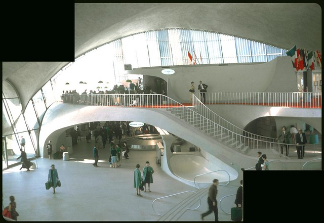 TWA Flight Center Interior by Eero Saarinen, 1963