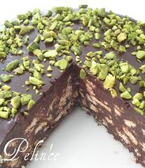 Çikolata Soslu Mozaik Pasta | by pelince.com