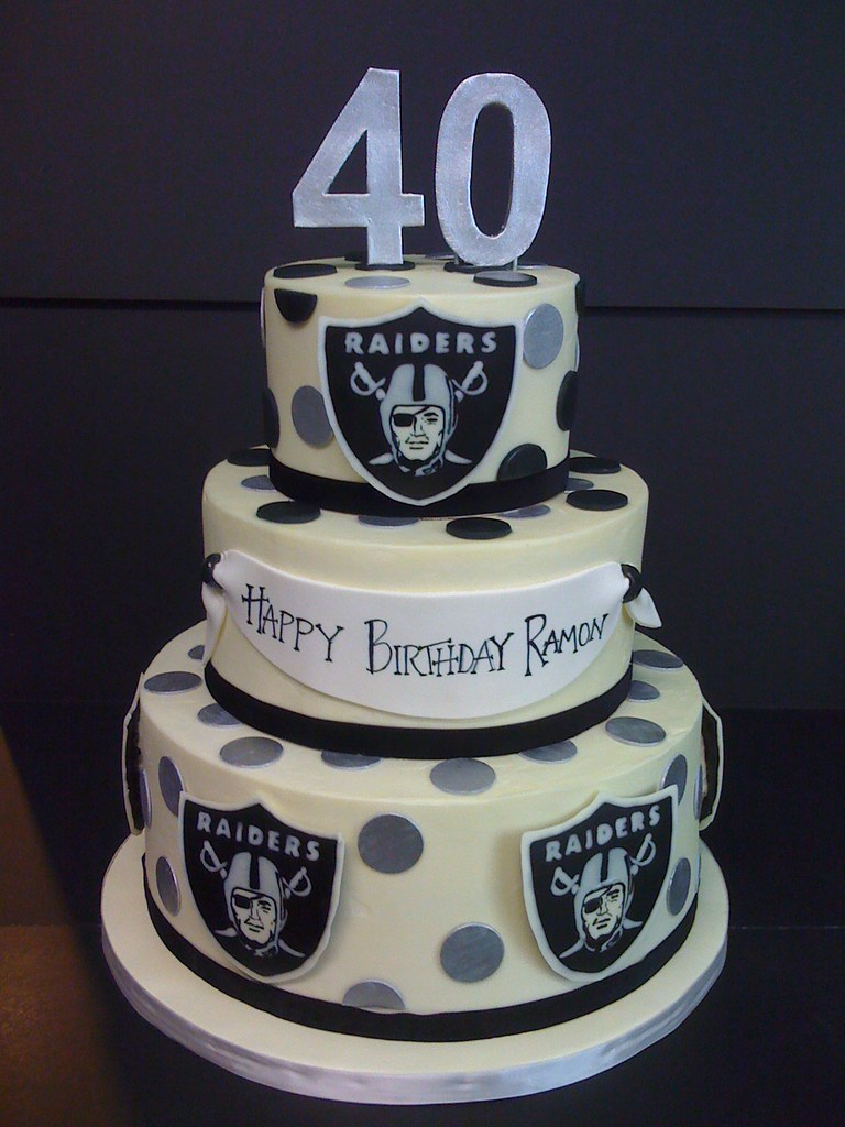 Raiders Buttercream Cake For A Raiders Fan S 40th Painte Flickr