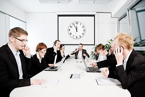 Conference Room - Busy People On The Phone | All of my image