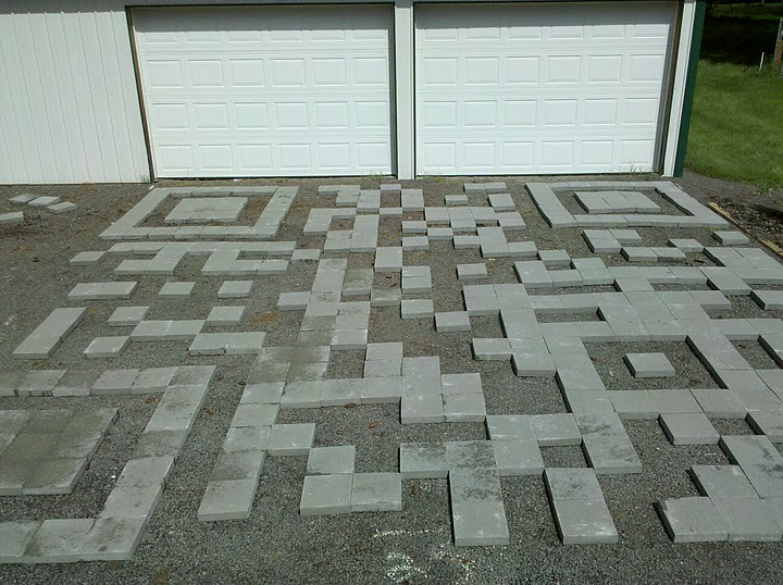 The first stage of the QR Code driveway