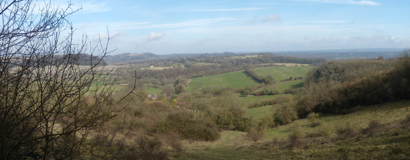 View from the hill Petersfield to Liss