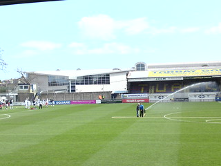 Plainmoor: The Grandstand (towards the Away End)