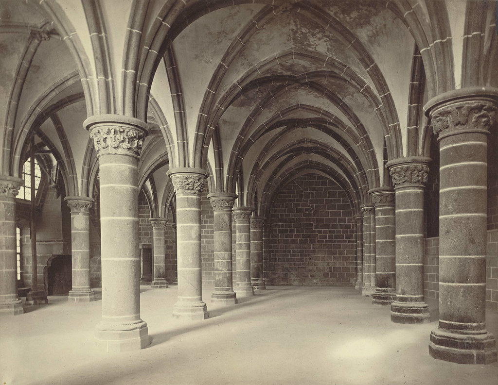 Mont Saint Michel Abbey The Marvel Chevaliers Hall Int Flickr