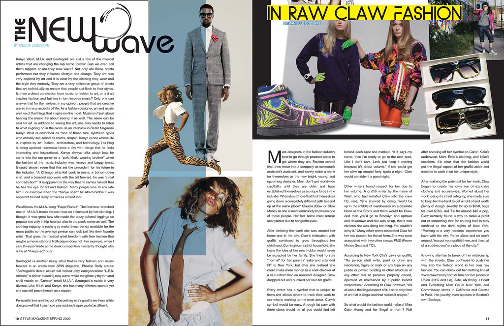 2deee0a86b7eb8 ... Style Magazine spring issue - article spread pages   by nebartwork