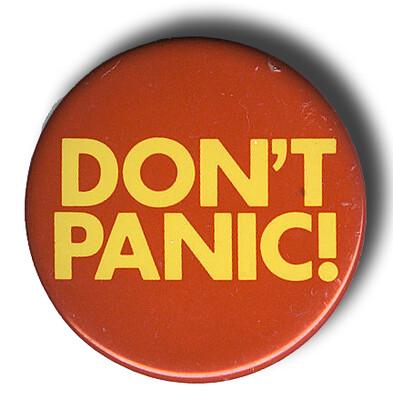 Don't Panic! - the Pin
