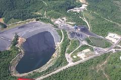 Sediment Pond and Slurry Impoundment aerial view