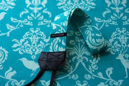 teal on teal brocade | by splityarn