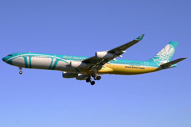 BWIA Airbus A340-313 9Y-TJN LHR 02-10-05