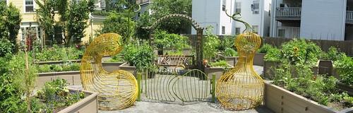 Veggie entrance to community garden | by anarchitect